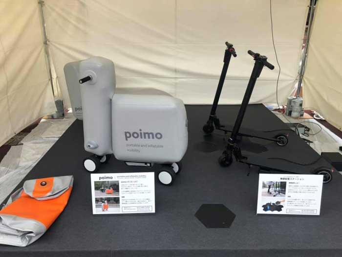 Poimo, vehiculo de movilidad personal inflable